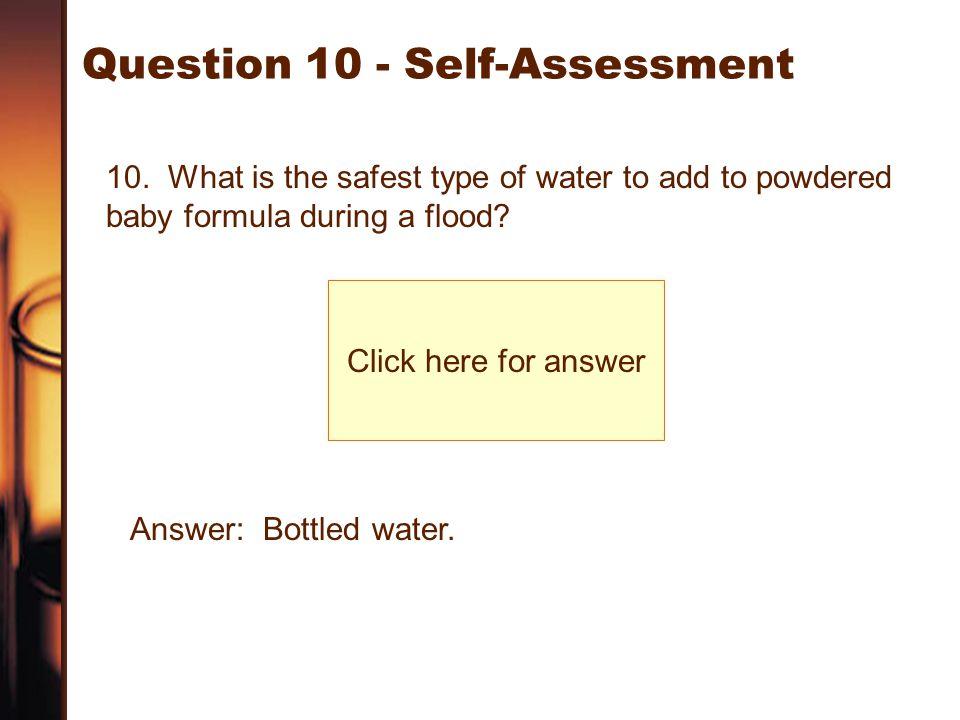 Question 10 - Self-Assessment