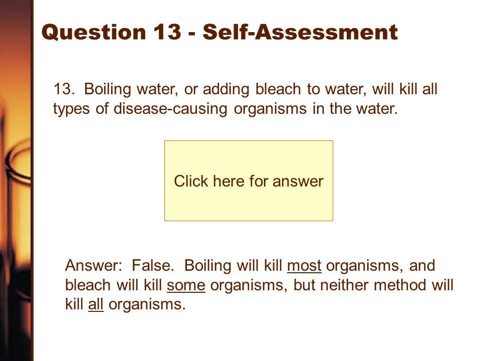Question 13 - Self-Assessment