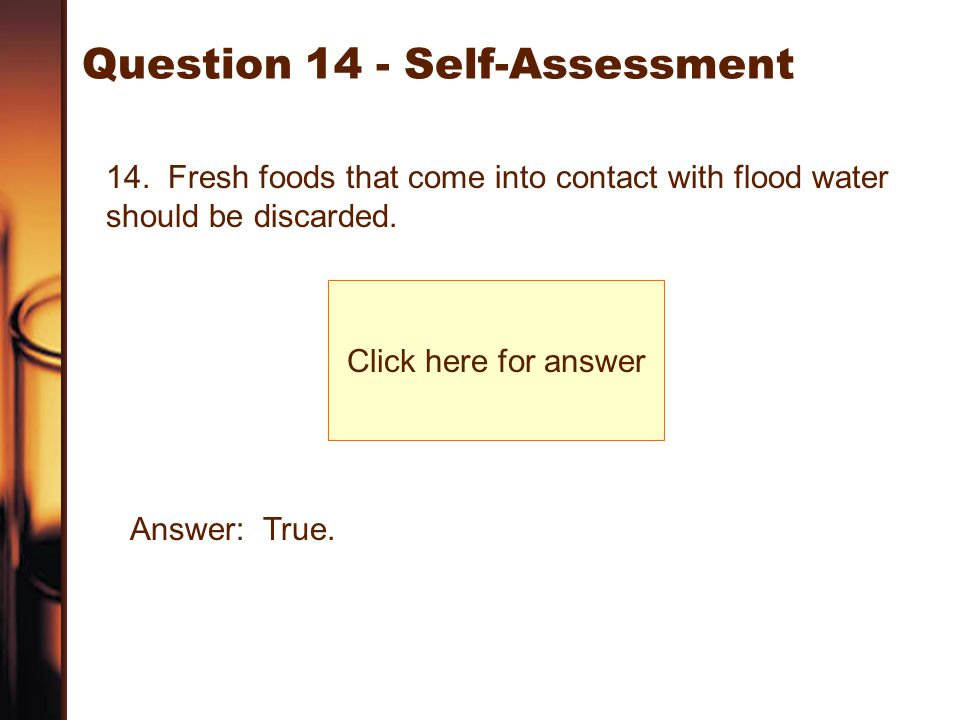 Question 14 - Self-Assessment