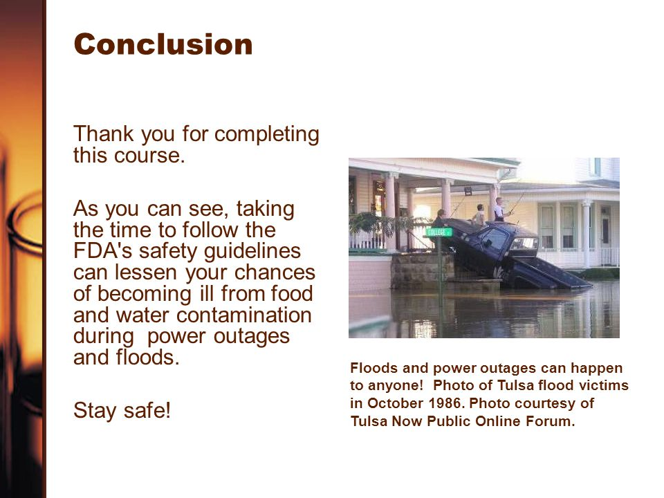 Conclusion Thank you for completing this course.