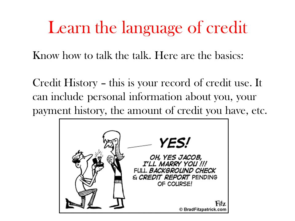 Learn the language of credit