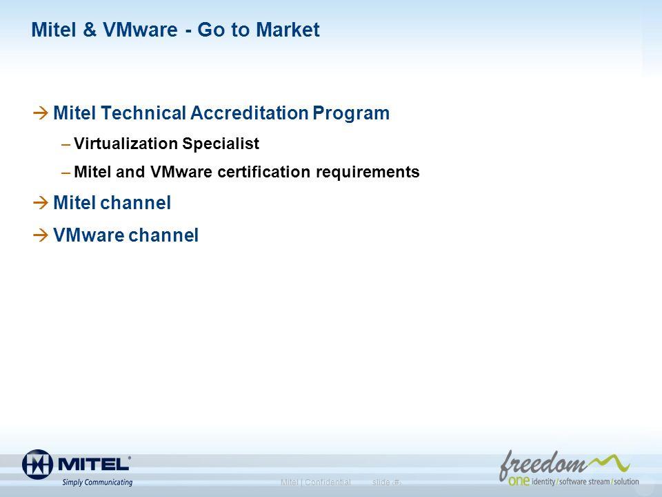 Mitel & VMware - Go to Market