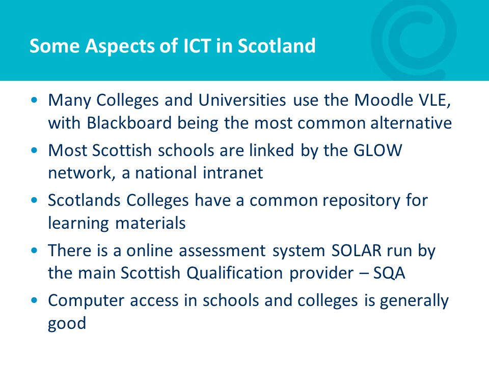 Some Aspects of ICT in Scotland
