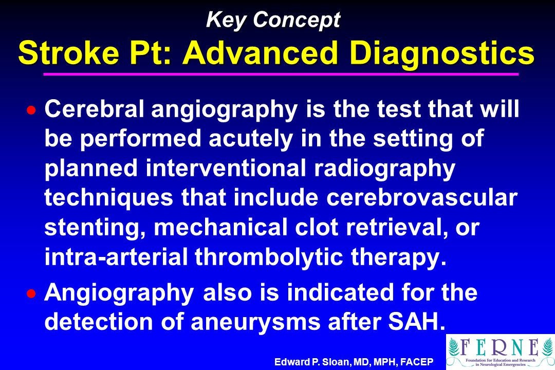 Key Concept Stroke Pt: Advanced Diagnostics