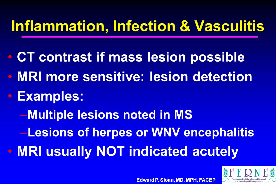 Inflammation, Infection & Vasculitis