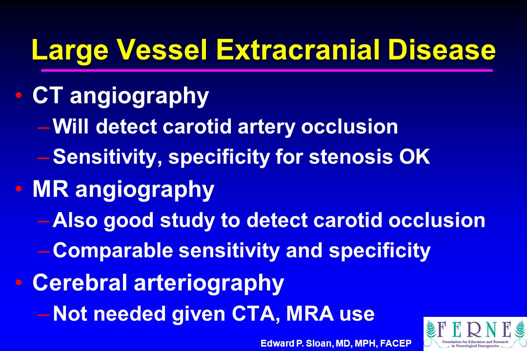Large Vessel Extracranial Disease