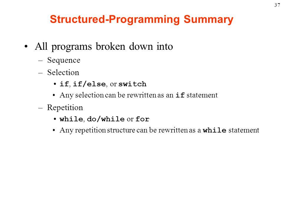 Structured-Programming Summary