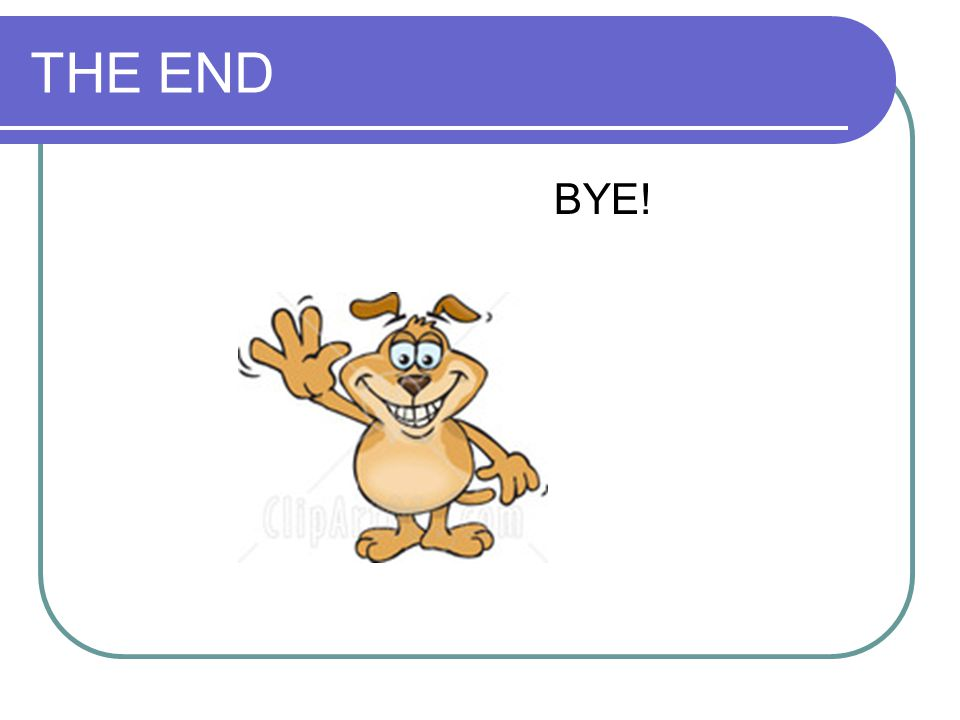 THE END BYE!