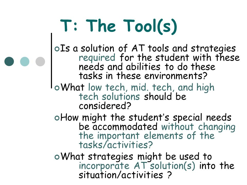 T: The Tool(s)