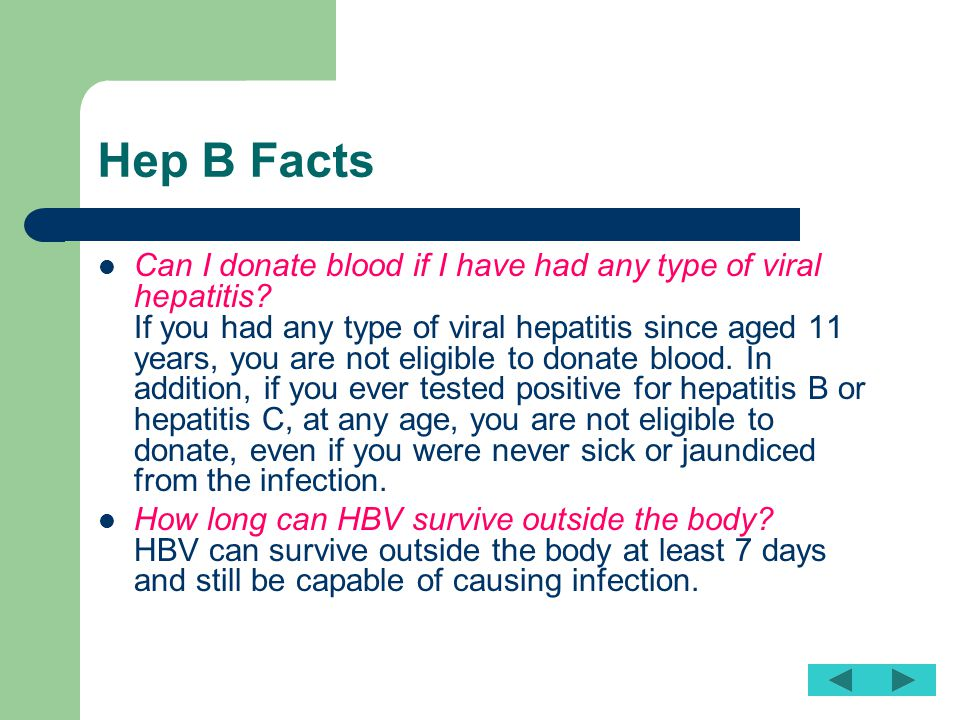 Hep B Facts