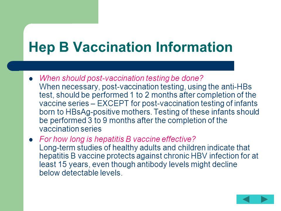 Hep B Vaccination Information