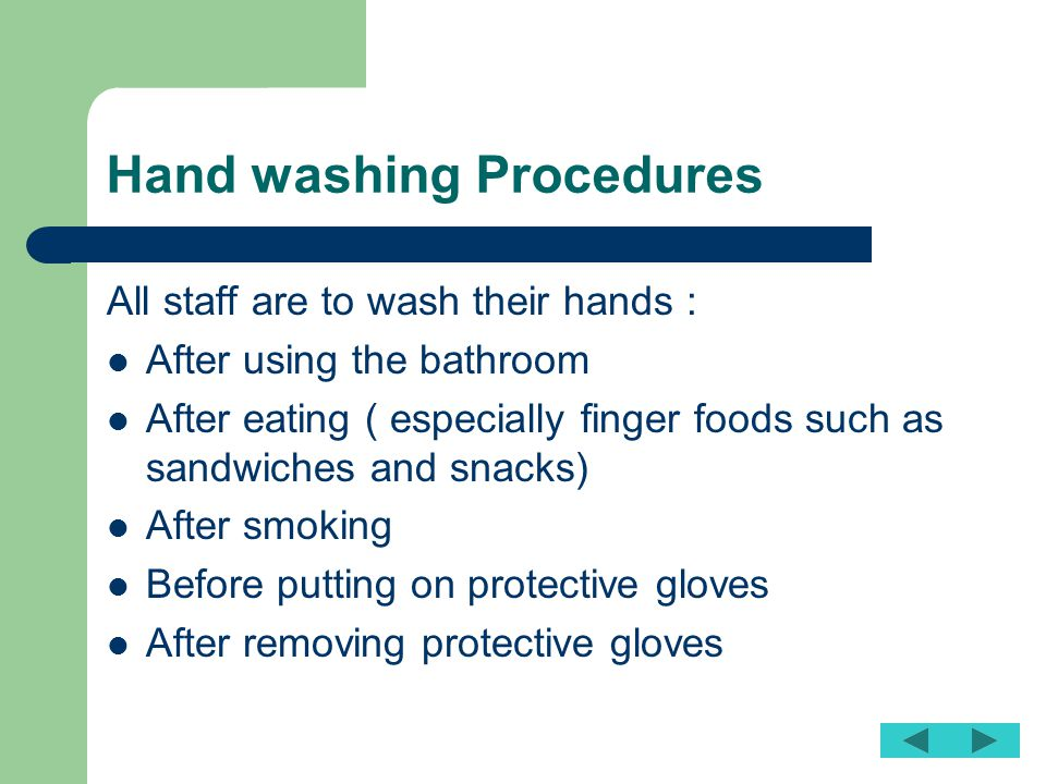 Hand washing Procedures