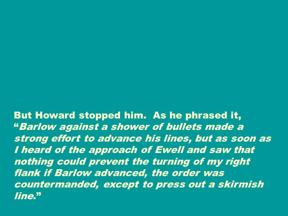 But Howard stopped him.