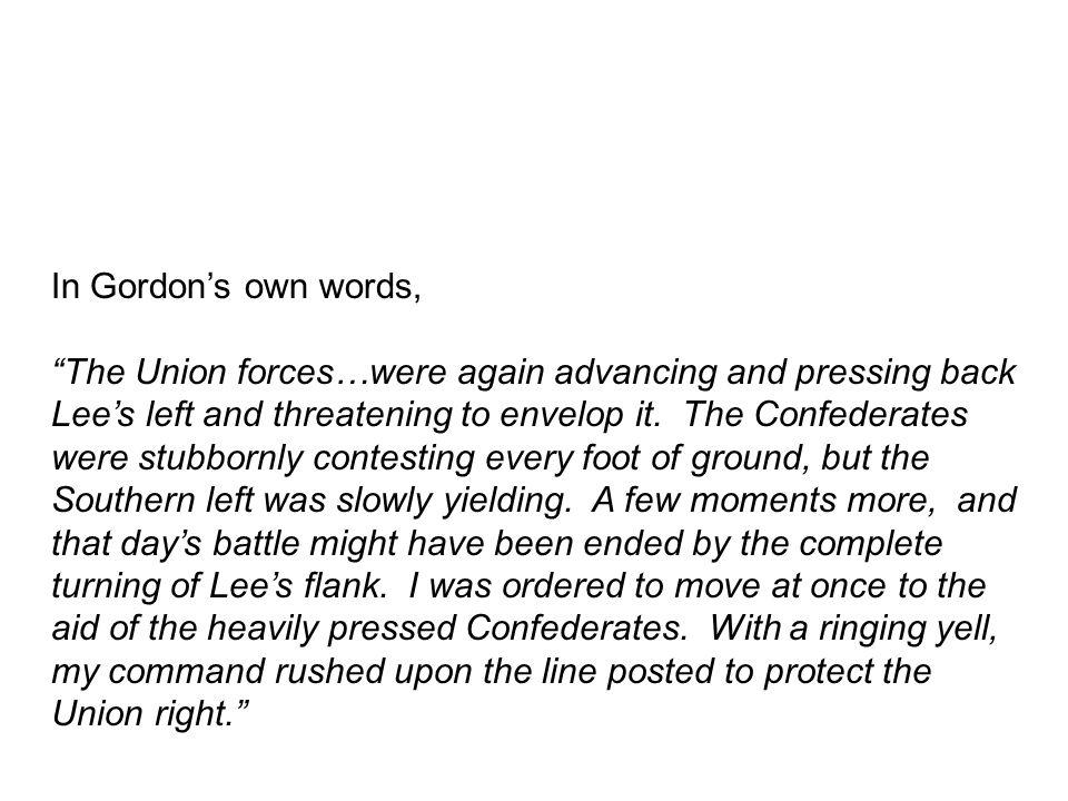 In Gordon's own words,