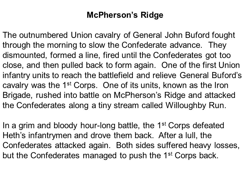 McPherson's Ridge