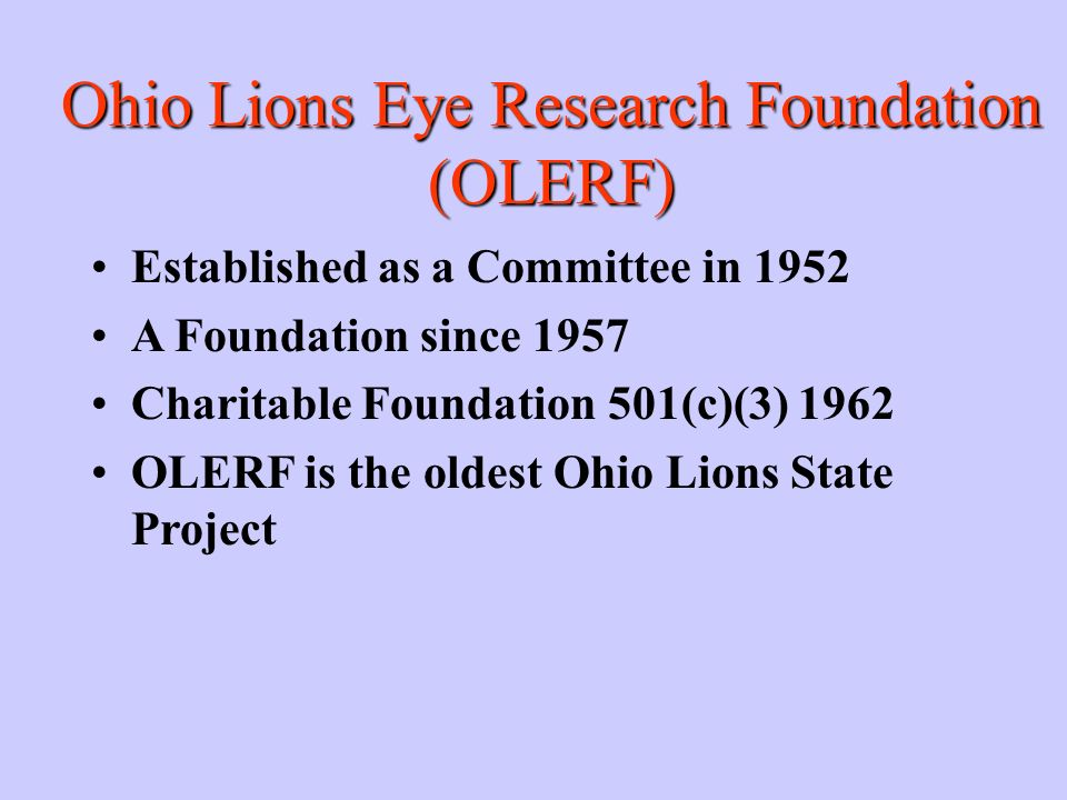 Ohio Lions Eye Research Foundation (OLERF)