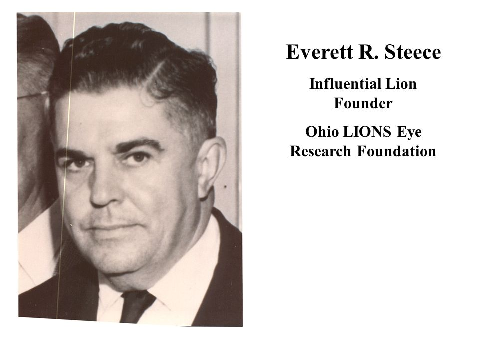 Influential Lion Founder Ohio LIONS Eye Research Foundation