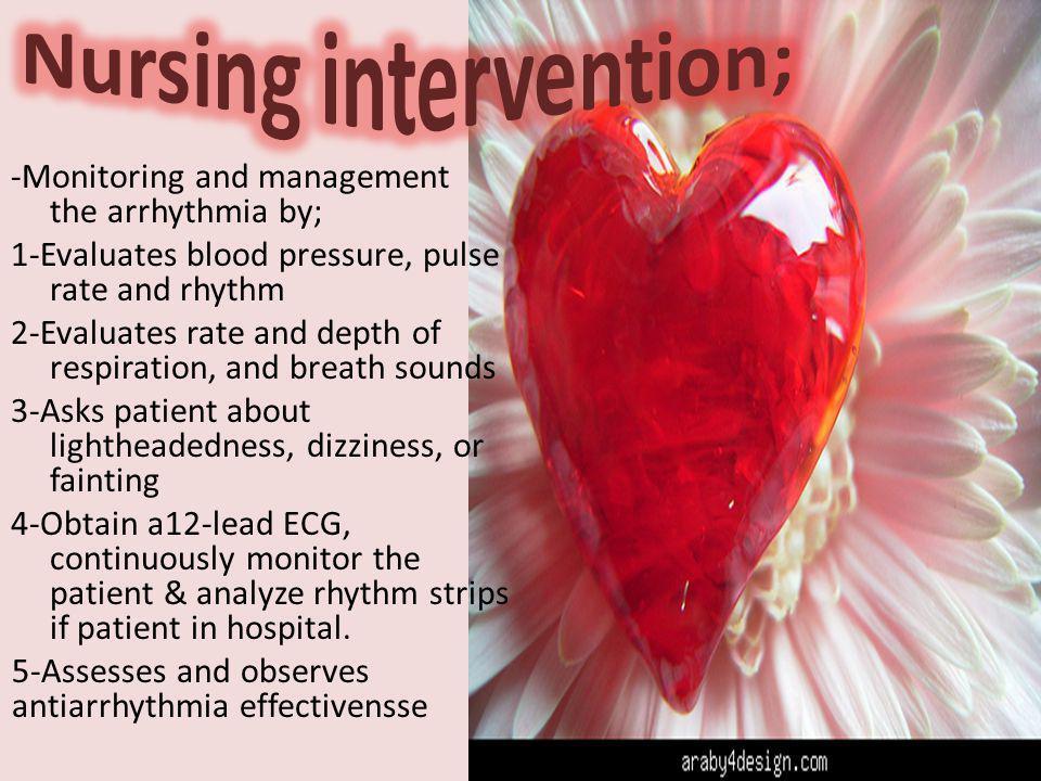Nursing intervention;