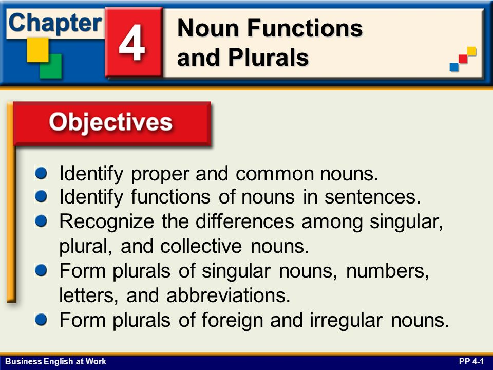 Objectives Identify proper and common nouns.