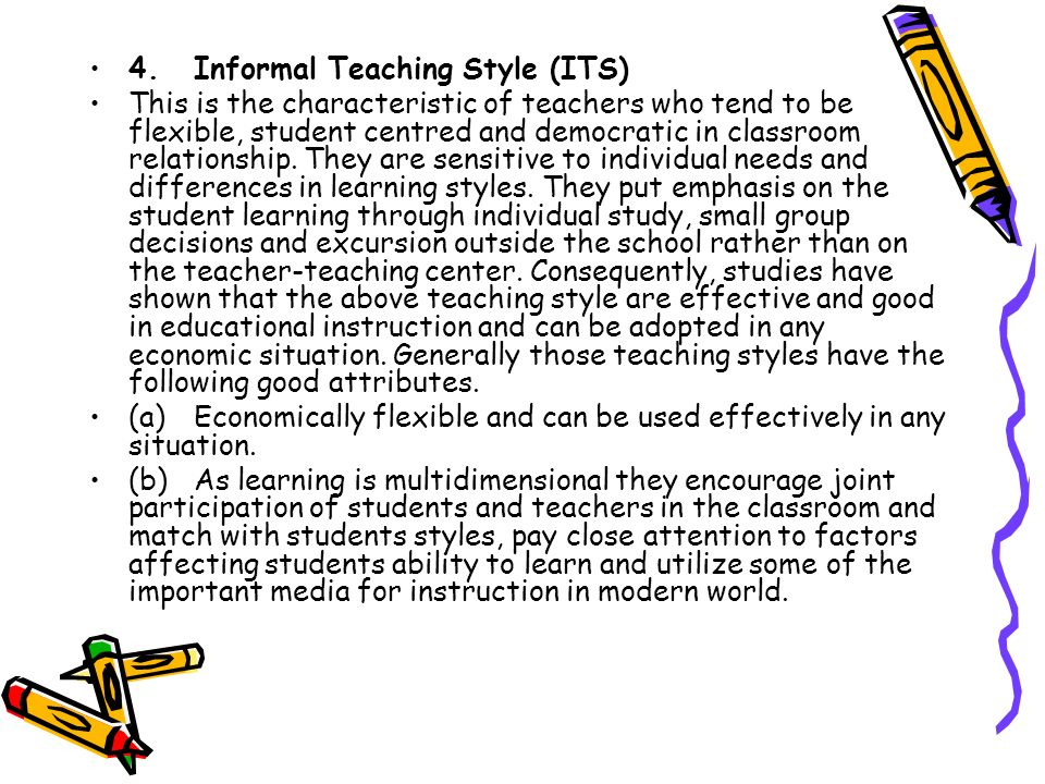 4. Informal Teaching Style (ITS)