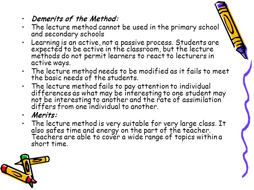 Demerits of the Method: