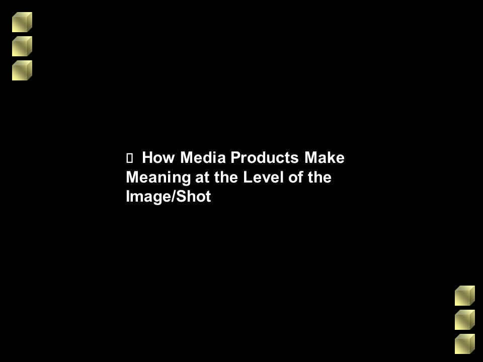 ¸ How Media Products Make Meaning at the Level of the Image/Shot