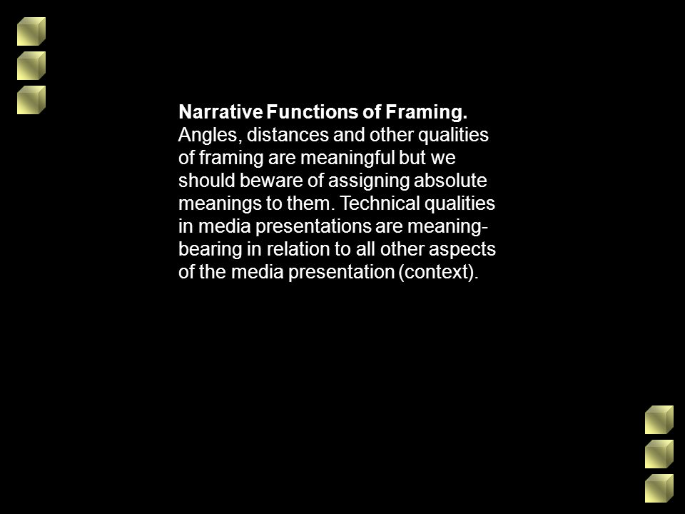 Narrative Functions of Framing