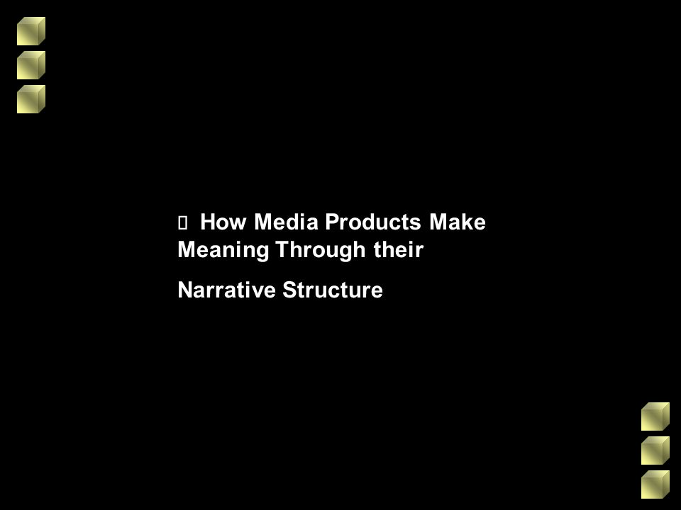 ¸ How Media Products Make Meaning Through their