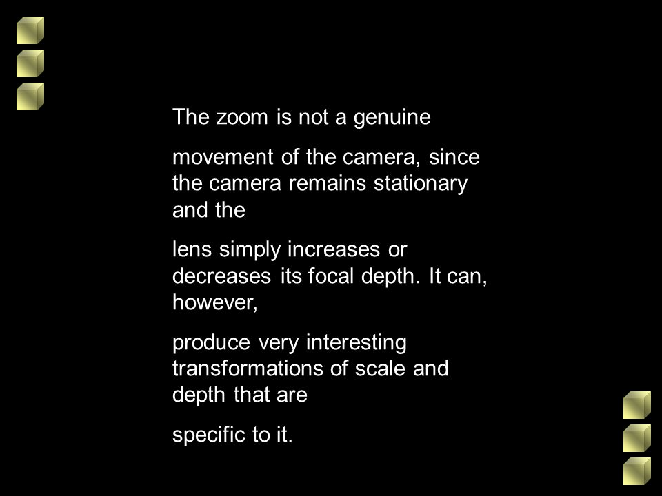 The zoom is not a genuine