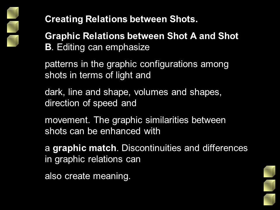 Creating Relations between Shots.