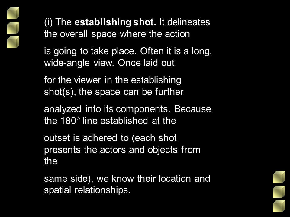(i) The establishing shot