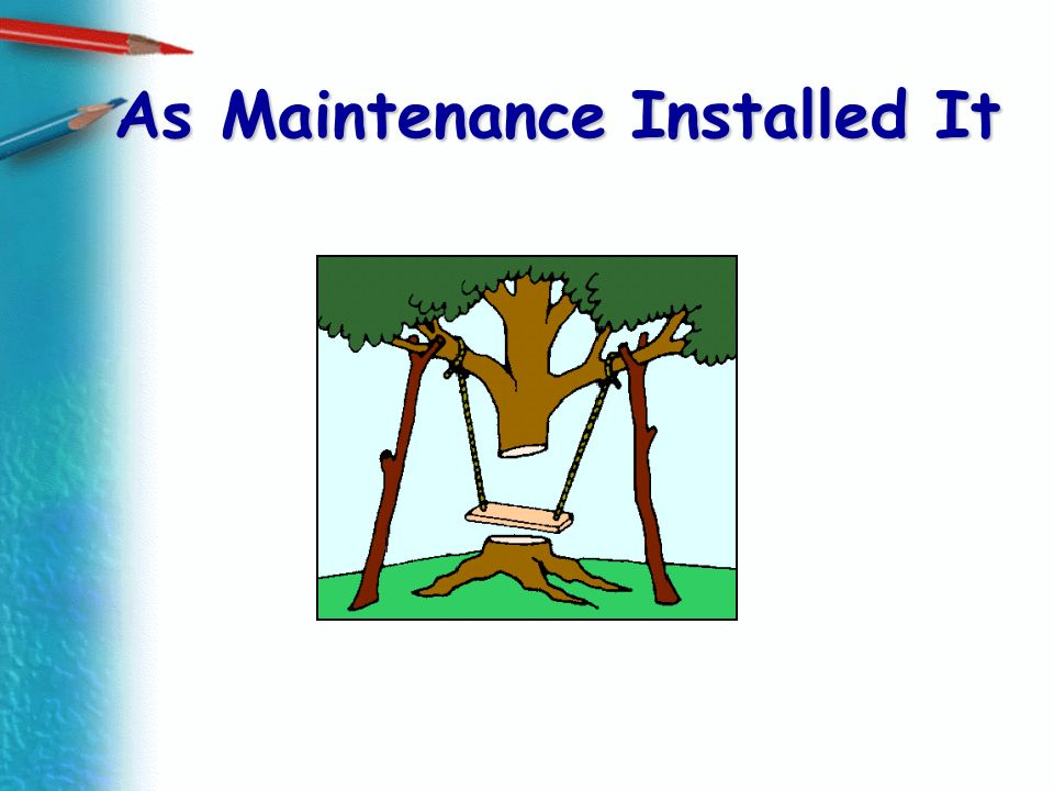 As Maintenance Installed It