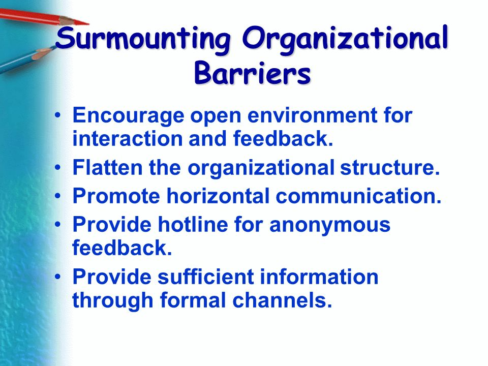 Surmounting Organizational Barriers