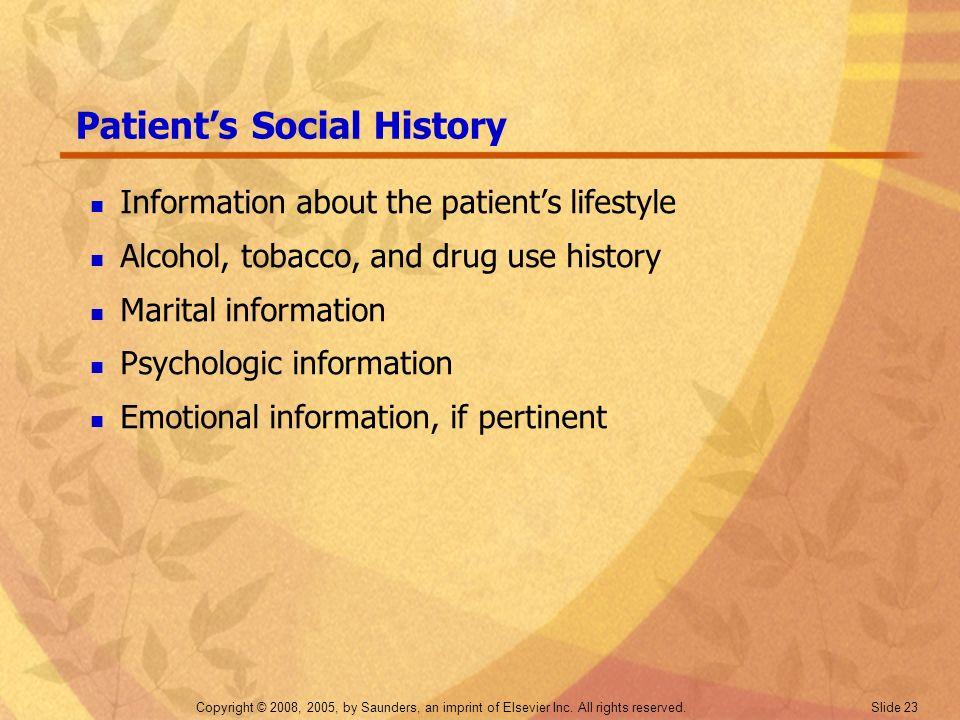 Patient's Social History