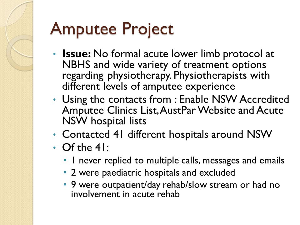 Amputee Project