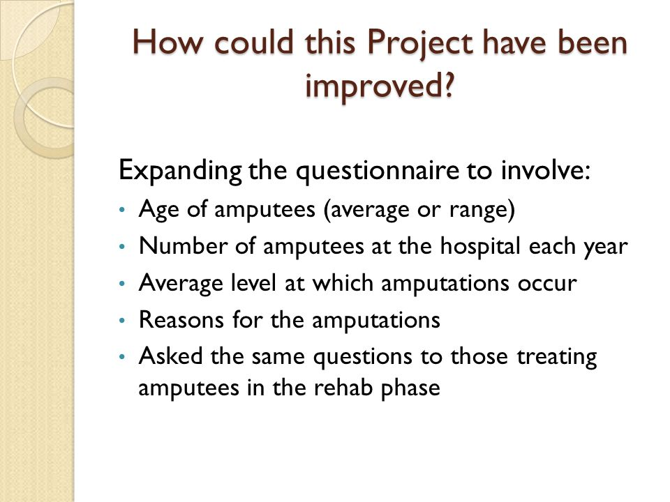 How could this Project have been improved