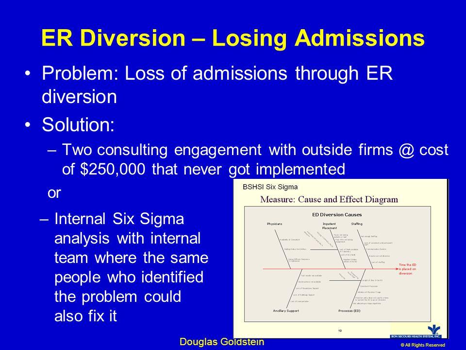 ER Diversion – Losing Admissions