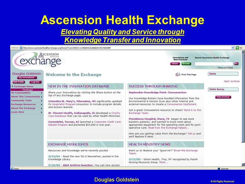 Ascension Health Exchange