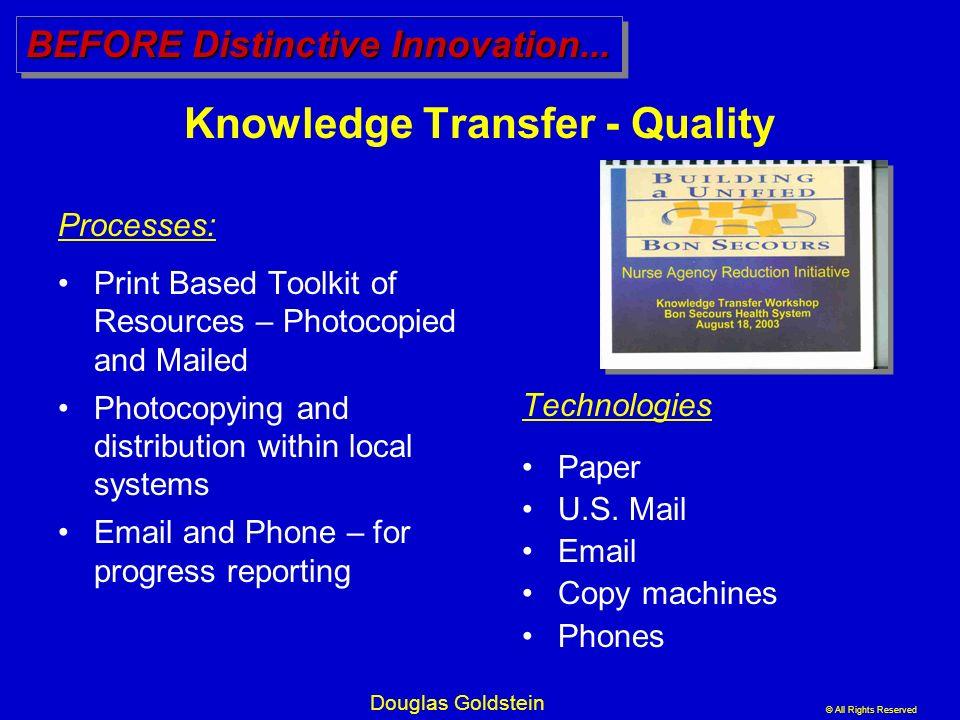 Knowledge Transfer - Quality