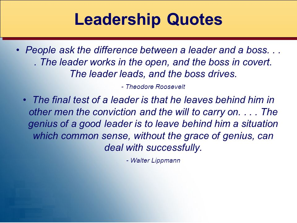 EXPERT ADVICE Leadership Quotes