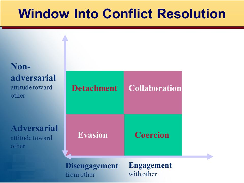 Window Into Conflict Resolution