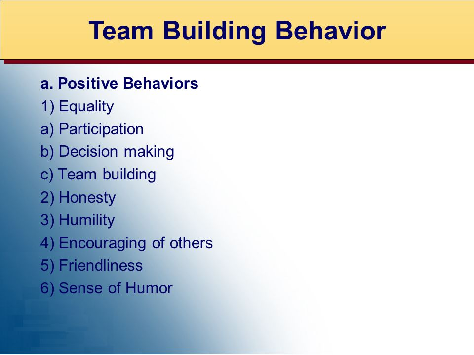 Team Building Behavior