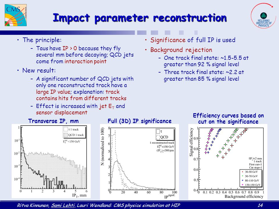 Impact parameter reconstruction