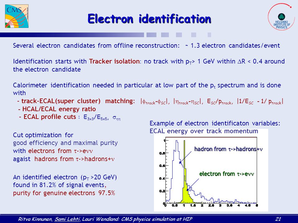 Electron identification