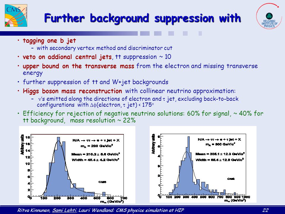 Further background suppression with