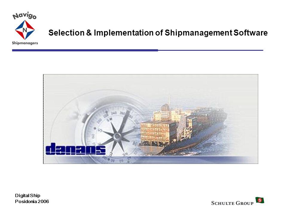 Selection & Implementation of Shipmanagement Software Digital Ship