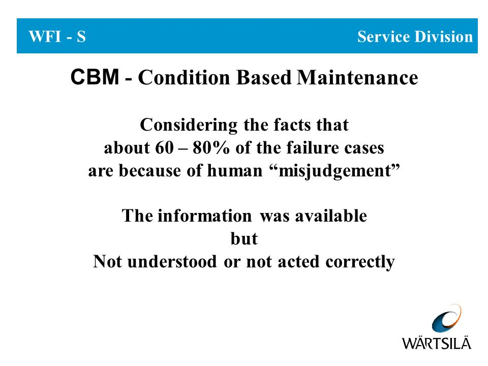 CBM - Condition Based Maintenance