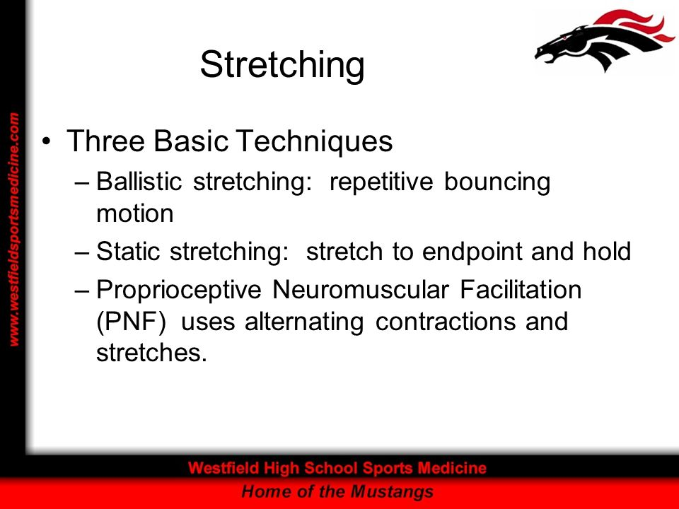 Stretching Three Basic Techniques