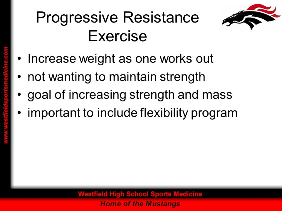 Progressive Resistance Exercise