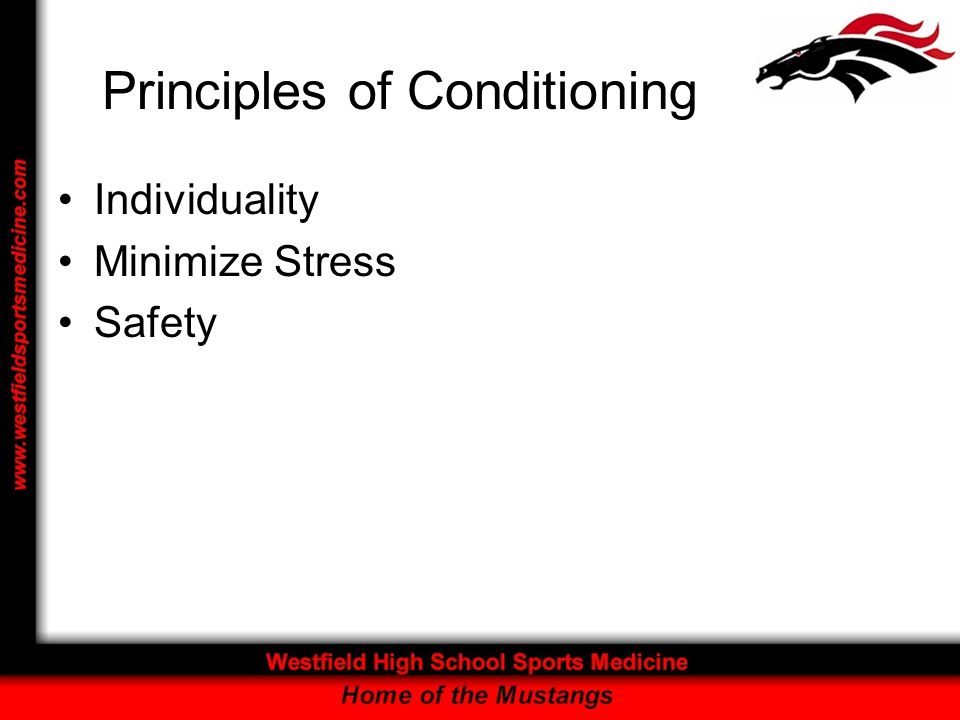 Principles of Conditioning